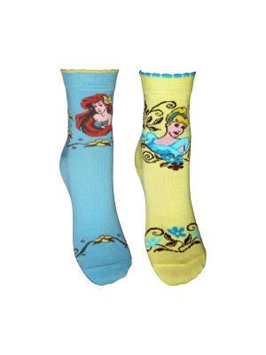 Носки 2 пары Master Socks. Цвет: голубой, желтый
