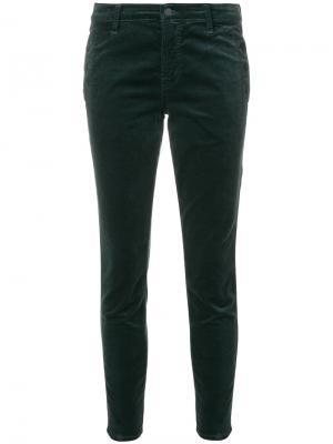 Укороченные брюки скинни Zion J Brand. Цвет: зелёный