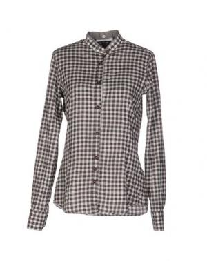 Pубашка AGLINI. Цвет: темно-коричневый