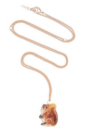 Колье 131826 Nach Jewellery. Цвет: коричневый