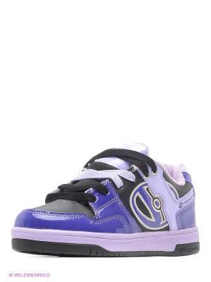 Роликовые кроссовки Heelys. Цвет: фиолетовый, черный