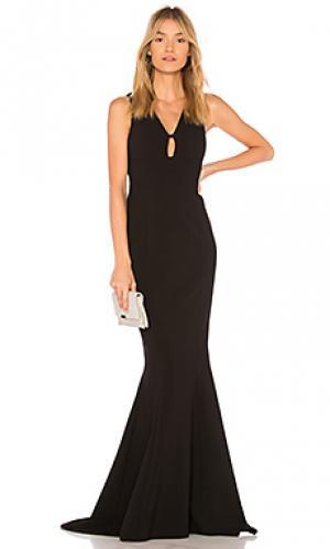 Вечернее платье albury LIKELY. Цвет: черный