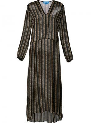 Полупрозрачное платье с неравномерным подолом Mih Jeans. Цвет: чёрный