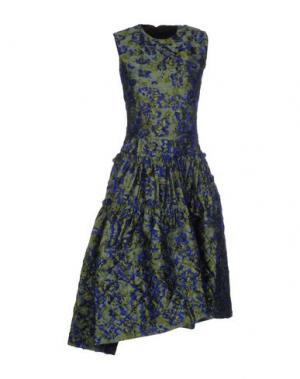 Платье до колена JOURDEN. Цвет: синий