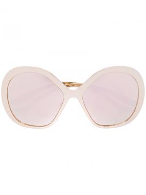 Солнцезащитные очки в объемной оправе Dolce & Gabbana Eyewear. Цвет: жёлтый и оранжевый