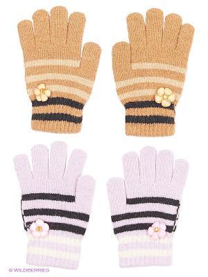 Перчатки, 2 пары FOMAS. Цвет: коричневый, серый