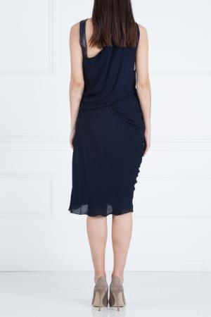 Шелковое платье J. Mendel. Цвет: черный