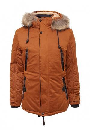 Куртка утепленная Tais. Цвет: оранжевый