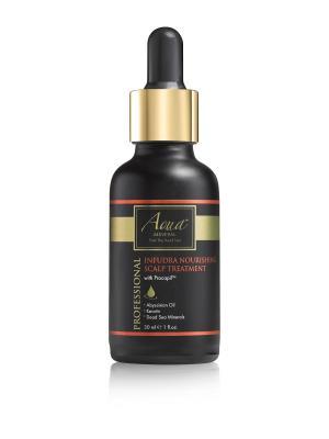 Средство питательное для ухода за корнями волос и кожей  головы 30 мл AQUA MINERAL. Цвет: светло-бежевый