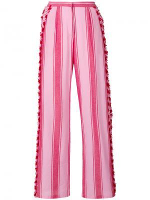 Tasselled striped trousers Dodo Bar Or. Цвет: розовый и фиолетовый