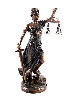 Статуэтка Греческая богиня правосудия - Фемида Русские подарки. Цвет: бронзовый