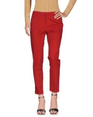 Повседневные брюки QL2 QUELLEDUE. Цвет: кирпично-красный