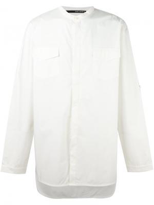 Рубашка с воротником-стойкой Isabel Benenato. Цвет: белый