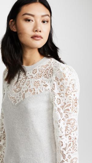 Lace Mix Sweater Rebecca Taylor