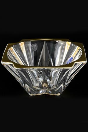 Конфетница 14,5 см Bohemia. Цвет: прозрачный, золотой