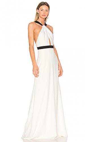 Вечернее платье холтер JILL STUART. Цвет: ivory