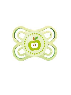 Пустышка силиконовая MAM Perfect  1 шт., 0-6 месяцев. Цвет: зеленый