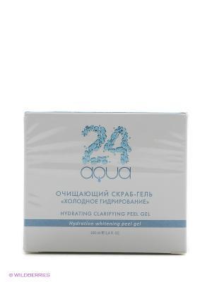 Очищающий пилинг-гель холодное гидрирование Аква 24 Beauty Style. Цвет: серый