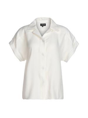 Блузка ZOI. Цвет: белый