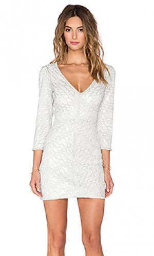 Платье с пайетками naomi SAYLOR. Цвет: белый