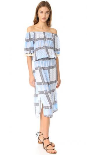 Платье Karl coolchange. Цвет: бледно-голубой/сумерки