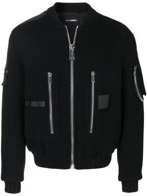 Куртка-бомбер Puffy Pilot Les Hommes. Цвет: чёрный