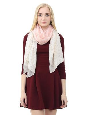 Платок Infiniti. Цвет: розовый, бежевый, белый