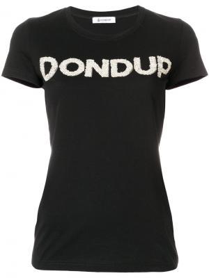 Футболка с логотипом Dondup. Цвет: чёрный