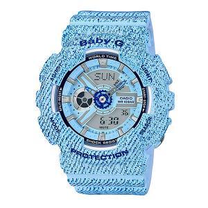 Электронные часы детские  Baby-G BA-110DC-2A3 Casio. Цвет: голубой