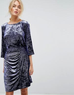 Gestuz Платье из мятого бархата. Цвет: фиолетовый