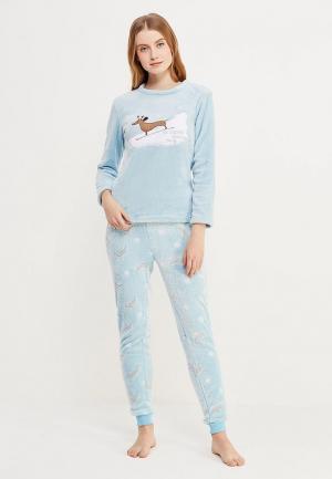Пижама Loungeable. Цвет: голубой