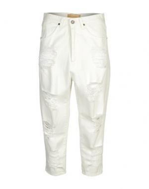 Джинсовые брюки 26.7 TWENTYSIXSEVEN. Цвет: слоновая кость