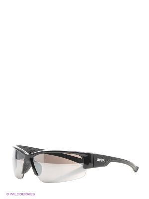 Очки солнцезащитные Uvex. Цвет: черный