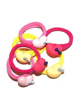 Резинки, 6 шт Lola. Цвет: малиновый,розовый,желтый