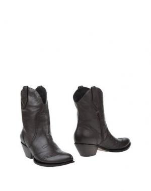 Полусапоги и высокие ботинки EMANUELA PASSERI. Цвет: темно-коричневый