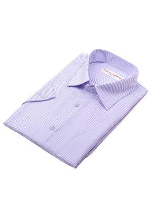 Рубашка Pierre Lauren. Цвет: сиреневый, белый