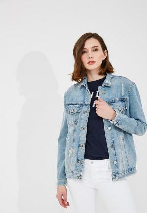 Куртка джинсовая Zoe Karssen. Цвет: голубой