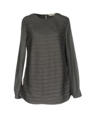 Блузка GUGLIELMINOTTI. Цвет: серый