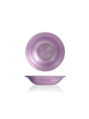Набор глубоких тарелок лиловых, 6 шт. H&H. Цвет: лиловый