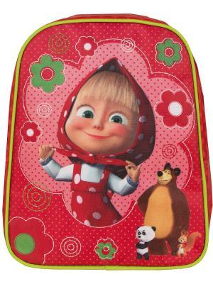 Рюкзачок средний Маша и Медведь классика. Цвет: красный, розовый
