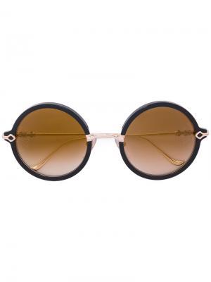 Круглые солнцезащитные очки Chrome Hearts. Цвет: металлический