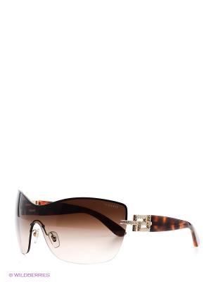 Очки солнцезащитные Versace. Цвет: коричневый, золотистый