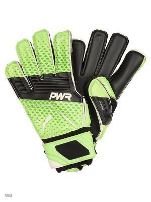 Перчатки вратарские evoPOWER Super 3 Puma. Цвет: салатовый, черный