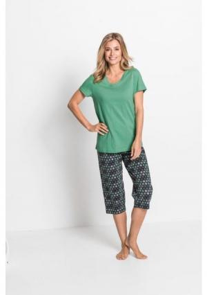 Пижама капри. Цвет: синий+серо-коричневый
