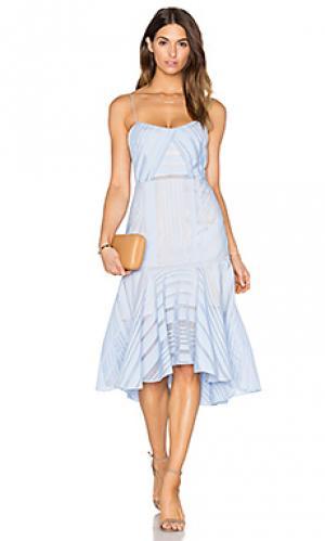 Платье с бюстье argent Acler. Цвет: синий
