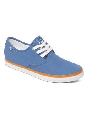 Кеды Quiksilver. Цвет: серо-голубой, голубой, темно-синий