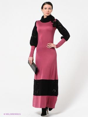 Платье Наталья Новикова. Цвет: розовый, черный