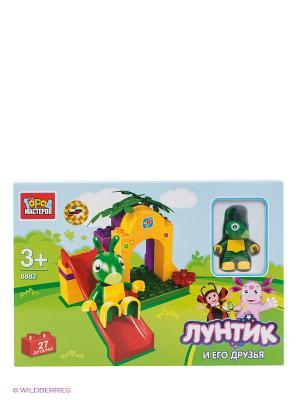 Конструктор Лунтик и его друзья Город мастеров. Цвет: зеленый, фиолетовый, красный, желтый
