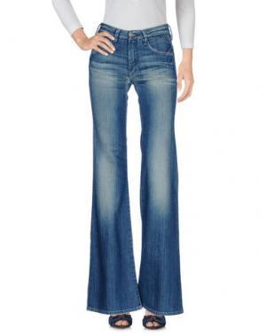 Джинсовые брюки LE TEMPS DES CERISES. Цвет: синий