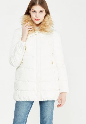 Куртка утепленная oodji. Цвет: белый